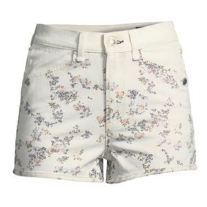 Ellie Floral-Print High-Rise Twill Shorts